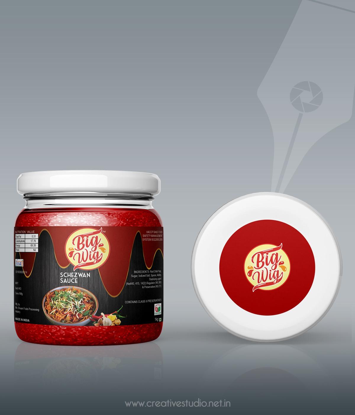 Schezwan MKUP - Label Packaging