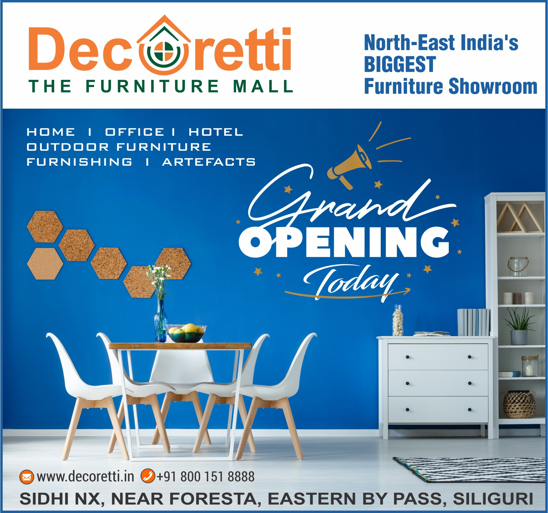 NEWS PAPER AD 160 X 150 GRAND OPENING TODAY - Social Media Creatives