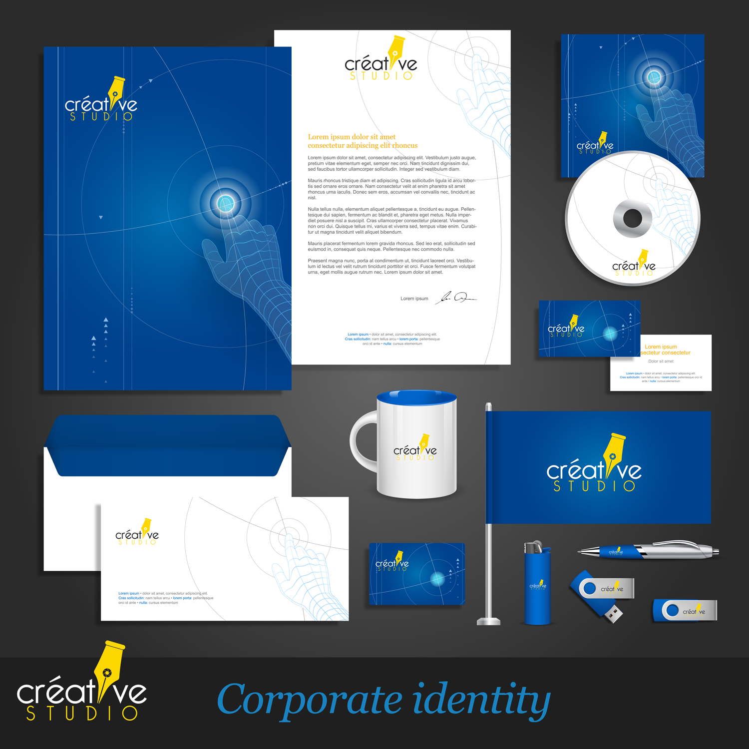 corporate identity kit vector templates Converted 01 - Corporate Identity