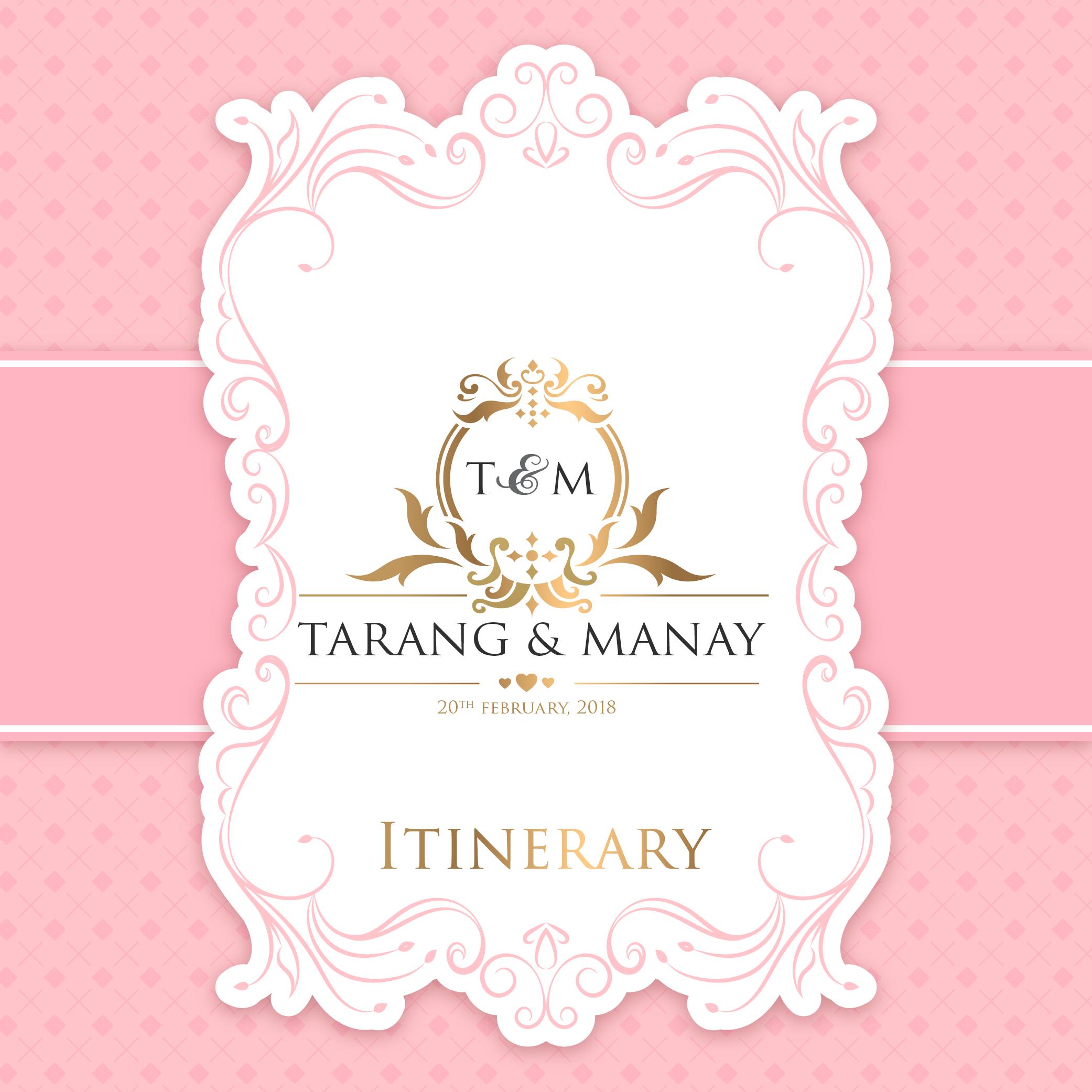 Tarng itiniary 01 - Invitation Card Design Service by Creative Studio