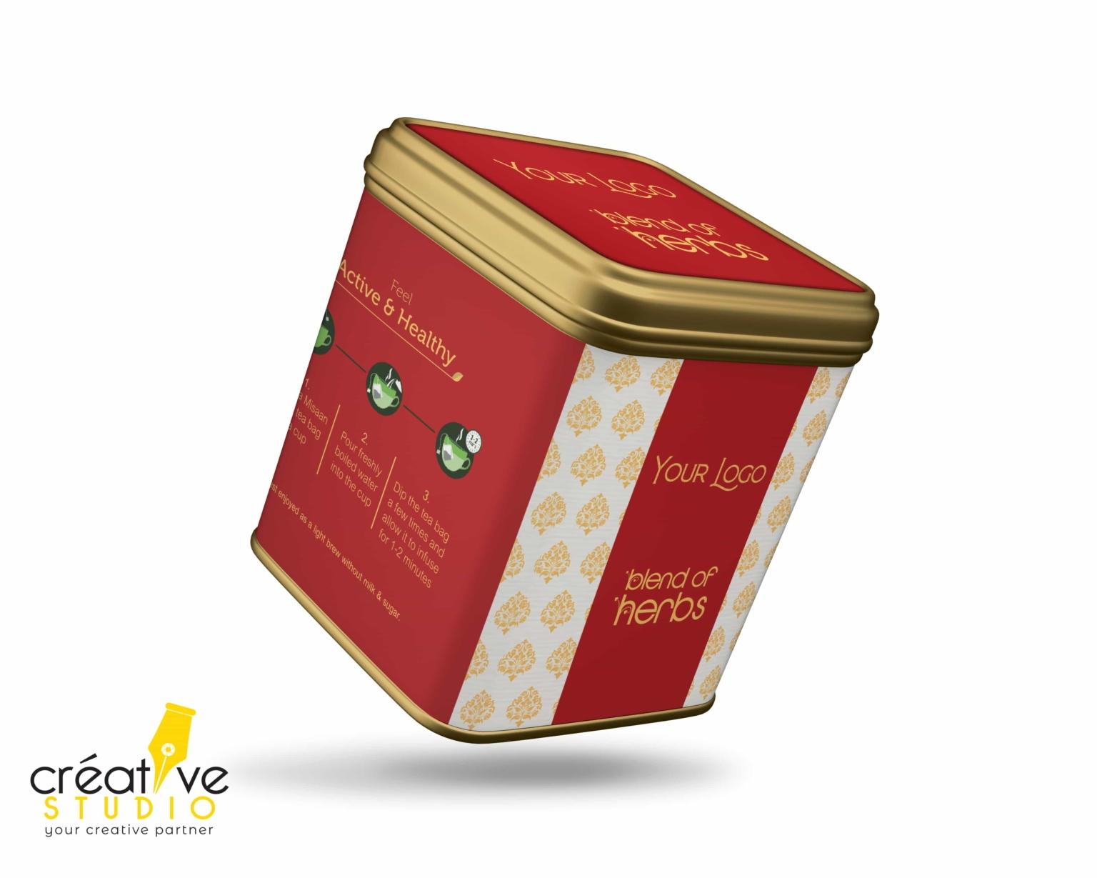 TEA TIN BOX 1 - Tea Mockup Designs
