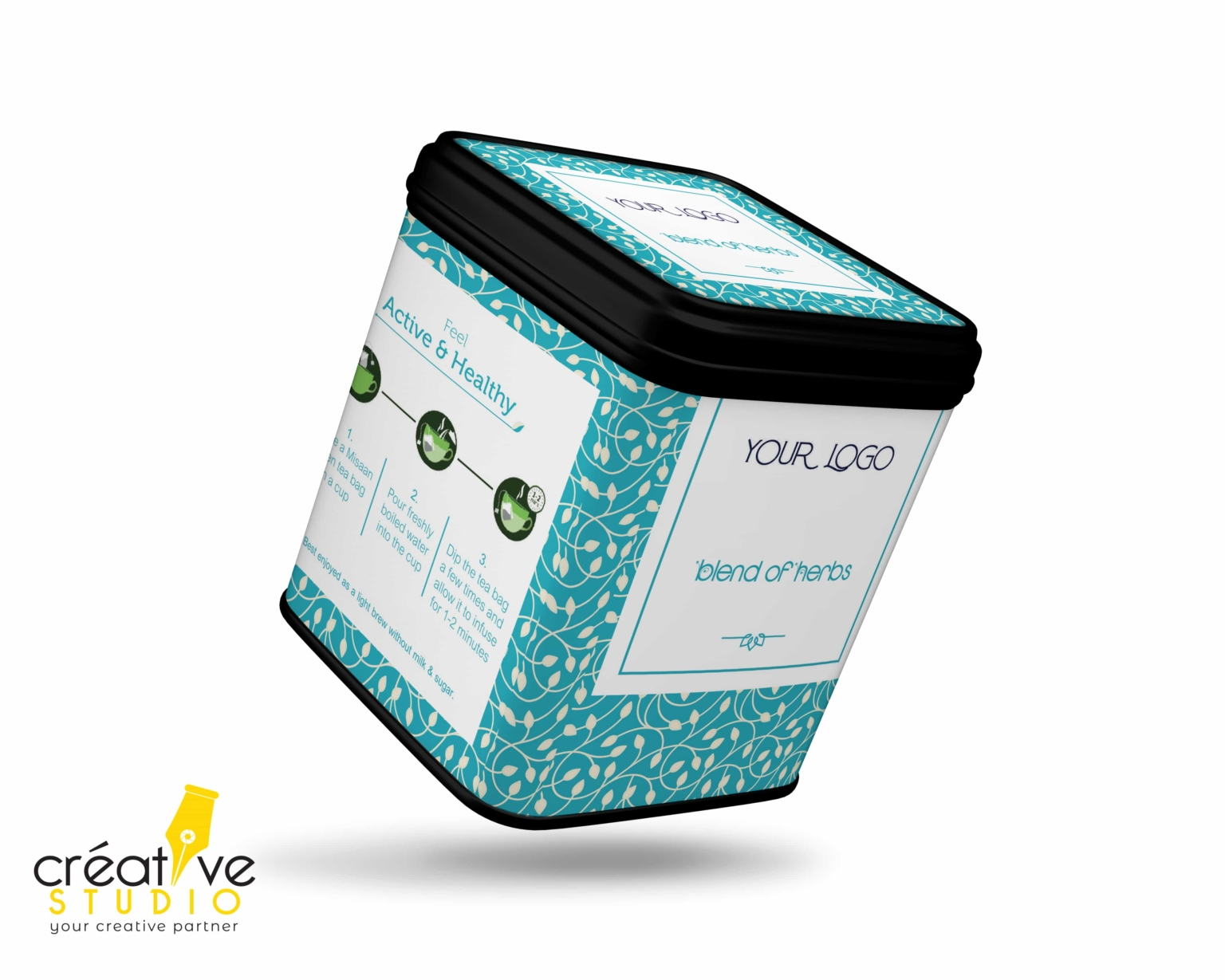TEA TIN BOX 11 - Tea Mockup Designs