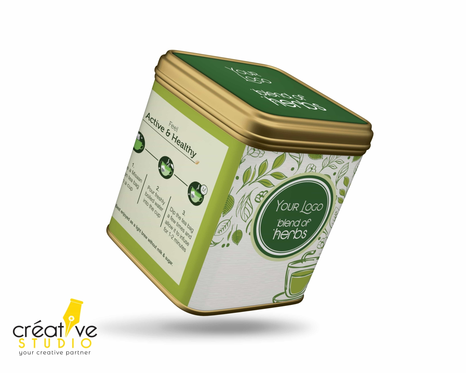 TEA TIN BOX 3 - Tea Mockup Designs
