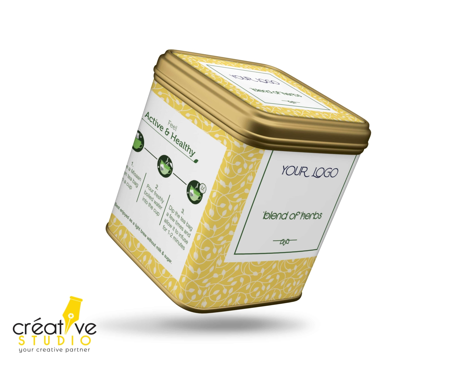 TEA TIN BOX 4 - Tea Mockup Designs