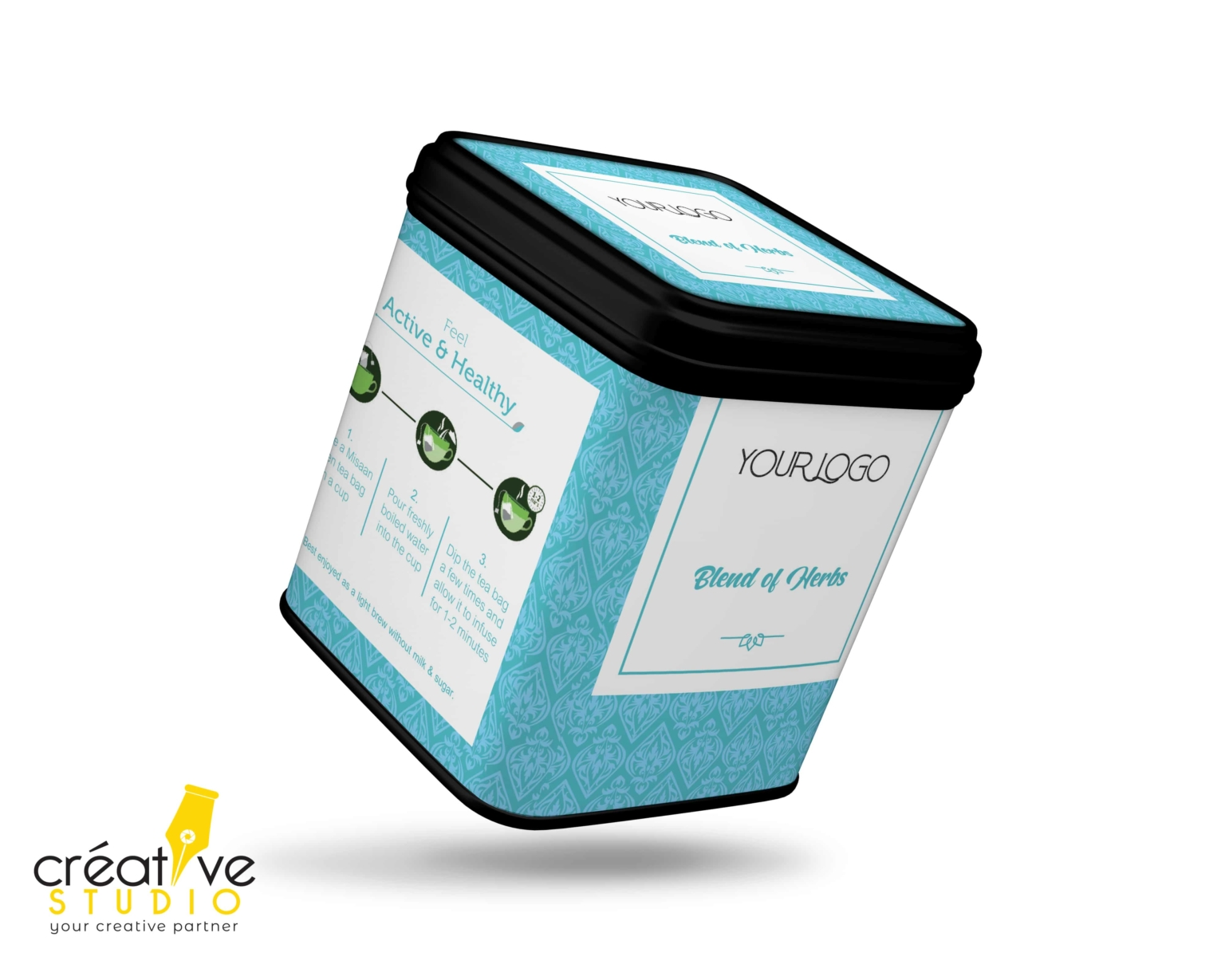 TEA TIN BOX 6 - Tea Mockup Designs