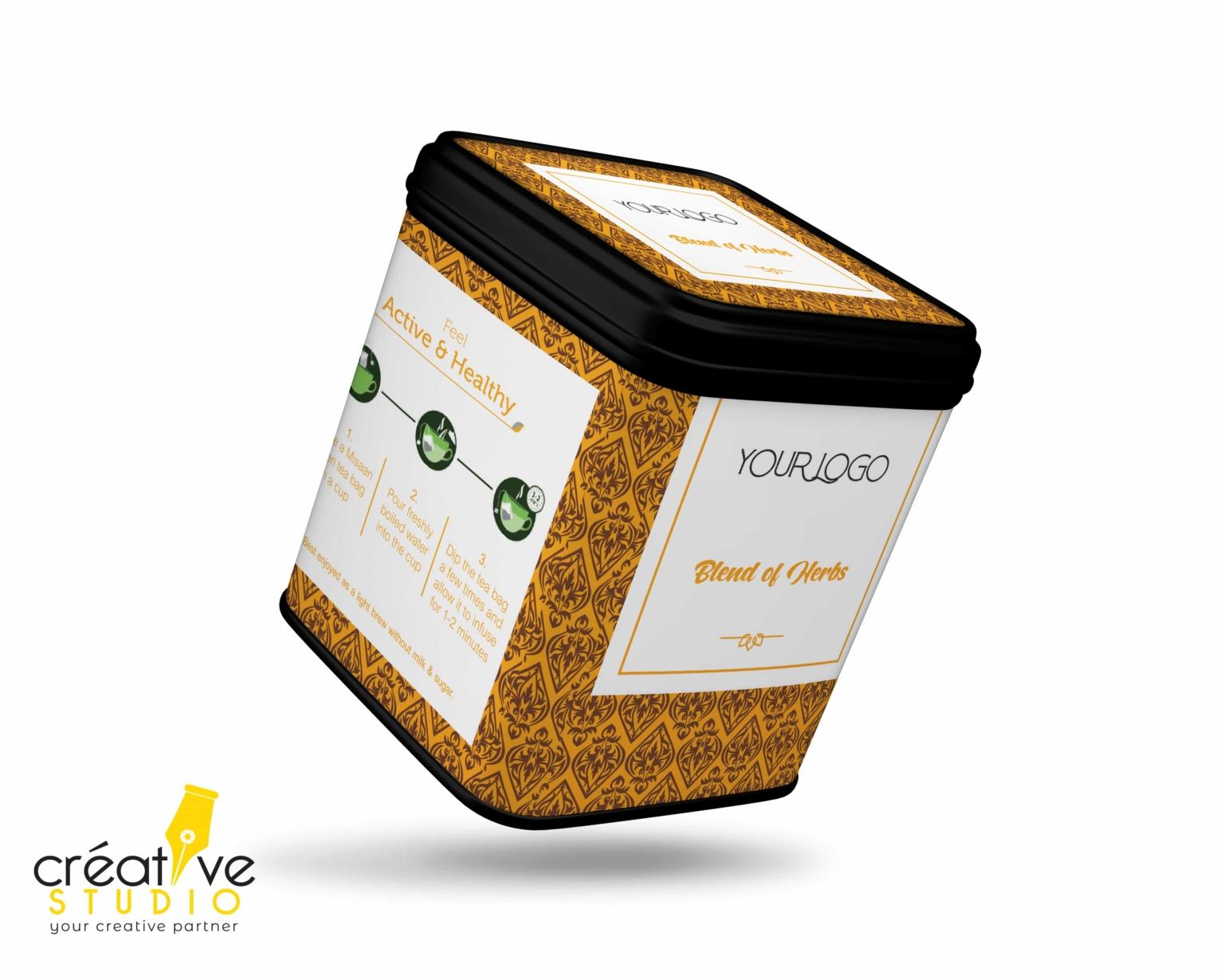 TEA TIN BOX 7 - Tea Mockup Designs