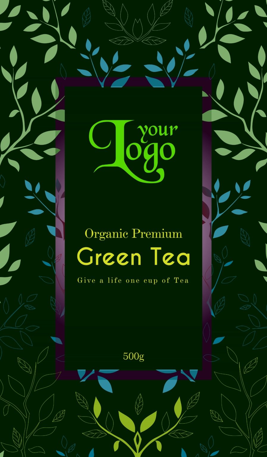 green tea2 01 - Tea Packet One