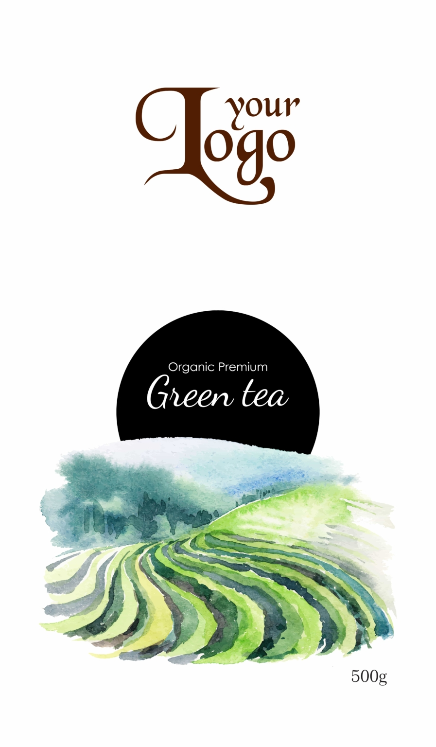 green tea2 03 - Tea Packet One