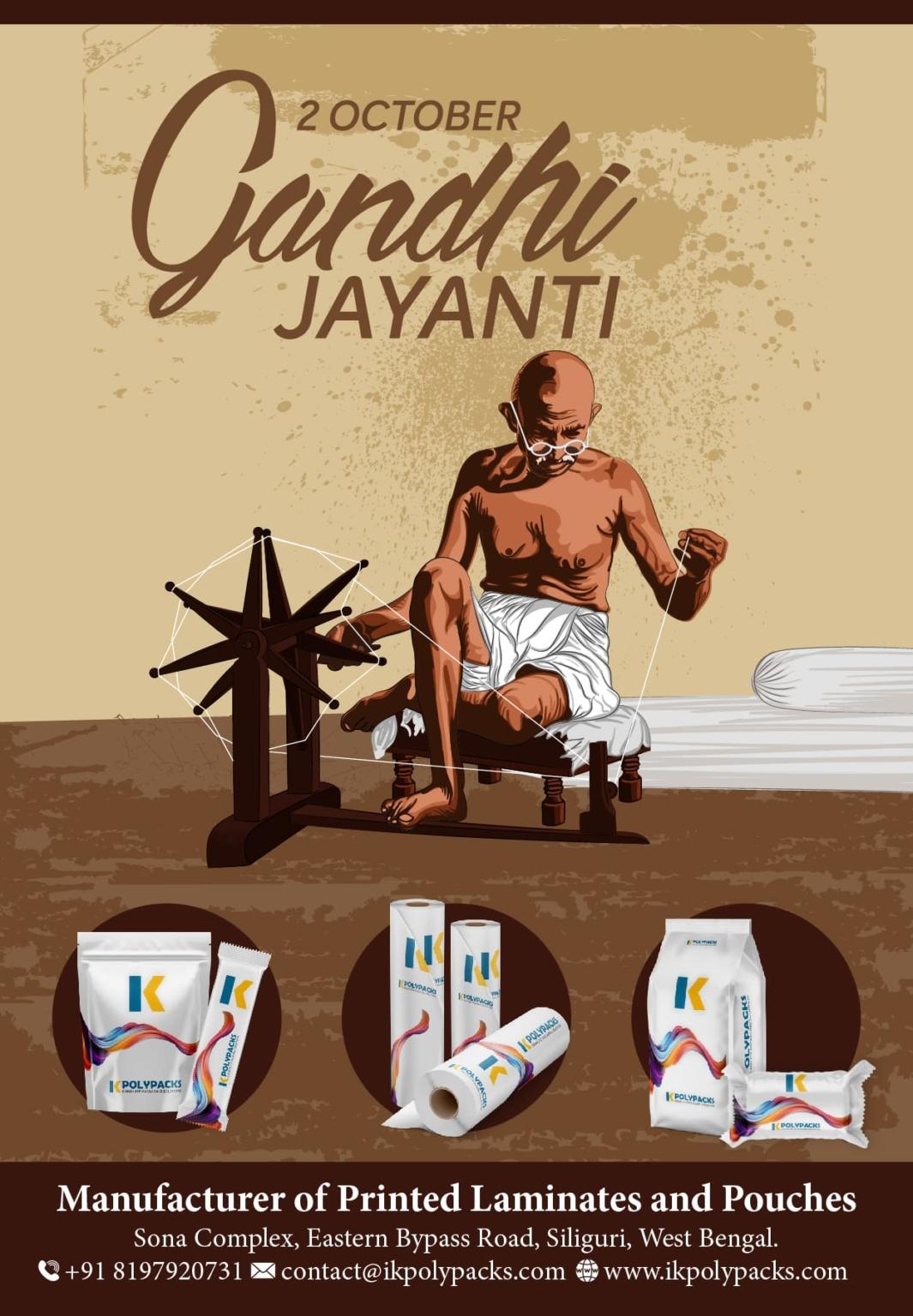 Gandhi Jayanti 02 - Season Greetings 500